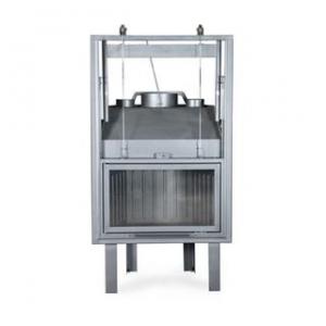 Ενεργειακό τζάκι αερόθερμο μιας όψης, PAN W 80 D ΙΣΙΟ