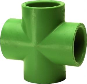 Ταφ σταυρός θηλυκός   PPR  Φ63χ3/4 AQUAPA πράσινος(ζεστό- κρύο)