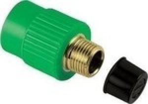 Μαστός αρσενικός  PPR  Φ40 χ1 1/ 4 AQUAPA πράσινος(ζεστό- κρύο)