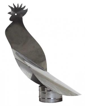 Καπέλο καμινάδας Ανοξείδωτο Περιστροφικό Πουλί πάχους 0,40mm Φ300