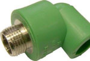 Γωνία αρσενική PPR  Φ20 χ 1/2  AQUAPA πράσινη(ζεστό- κρύο)