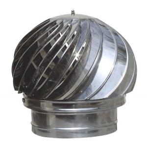 Καπέλο καμινάδας Ανοξείδωτο περιστροφικό πάχους 0,40mm Διατομή Φ150