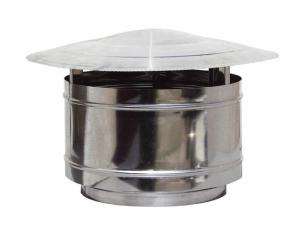 Καπέλο καμινάδας Ανοξείδωτο Αντιανεμικό Βαρελάκι πάχους 0,40mm Φ125