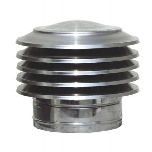 Καπέλο καμινάδας Ανοξείδωτο Παγόδα πάχους 0,40mm Φ100