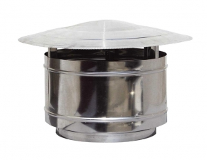 Καπέλο καμινάδας Ανοξείδωτο Αντιανεμικό Βαρελάκι πάχους 0,40mm Φ200