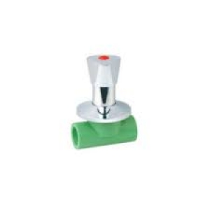 Διακόπτης εντοιχισμένος   PPR  Φ25 AQUAPA πράσινος(ζεστό- κρύο)