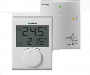 SIEMENS Ηλεκτρονικός θερμοστάτης δυνατότητα ασύρμ. λειτουργίας  RDH100RF/SET