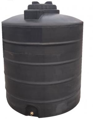 Πλαστική δεξαμενή στενή κάθετη βαρέου τύπου 2000 λίτρα (Νερού-πετρελαίου-κλπ)