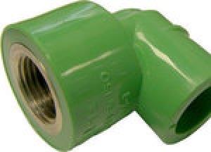 Γωνία θηλυκή PPR  Φ20 χ 1/2  AQUAPA πράσινη(ζεστό- κρύο)