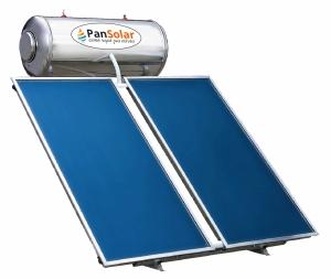 Ηλιακός Θερμοσίφωνας 300 λίτρα PanSolar Τριπλής Ενέργειας Glass/Inox Επιλεκτικός 5,5m².