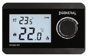 General Ηλεκτρονικός θερμοστάτης χώρου θέρμανσης ΗΤ250S SET Ασύρματος Μαύρος