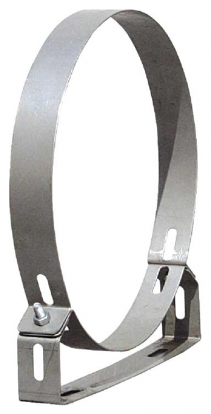 Στήριγμα καμινάδας Ανοξείδωτο Ενισχυμένο πάχους 0,40mm Φ150