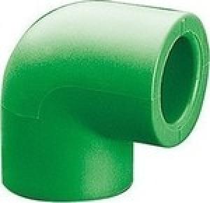 Γωνία  PPR 90°  Φ63  AQUAPA πράσινη (ζεστό- κρύο)