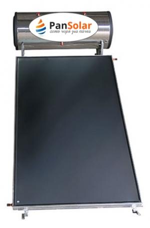 Ηλιακός Θερμοσίφωνας 160 λίτρα PanSolar Τριπλής Ενέργειας Glass/Inox Επιλεκτικός 2,5m².