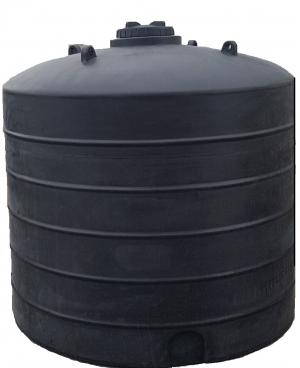 Πλαστική δεξαμενή στενή κάθετη βαρέου τύπου 10000 λίτρα (Νερού-πετρελαίου-κλπ)