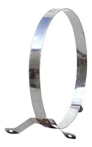 Στήριγμα καμινάδας Ανοξείδωτο Απλό πάχους 0,40mm Φ080