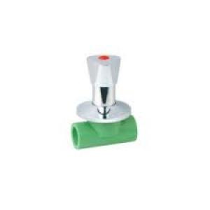 Διακόπτης εντοιχισμένος   PPR  Φ20 AQUAPA πράσινος(ζεστό- κρύο)
