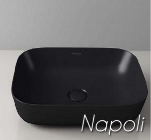 Νιπτήρας επιτραπέζιος NAPOLI Μαύρος Ματ Φ600x400x145mm