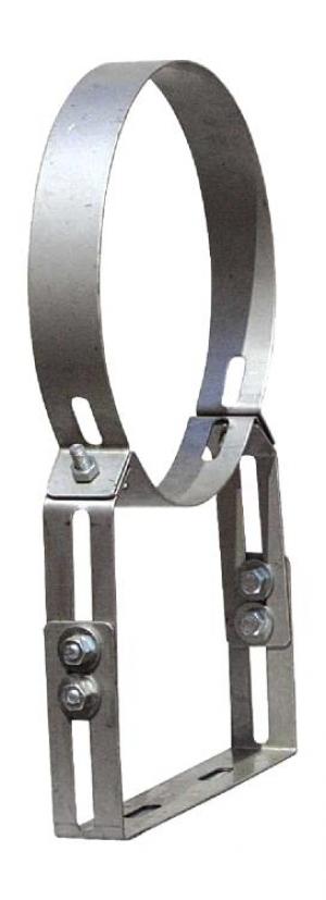 Στήριγμα καμινάδας Ανοξείδωτο Ενισχυμένο Ρυθμιζόμενο πάχους 0,40mm Φ150