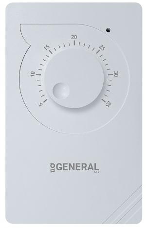 General Αναλογικός θερμοστάτης χώρου θέρμανσης ή ψύξης ΗΤ100
